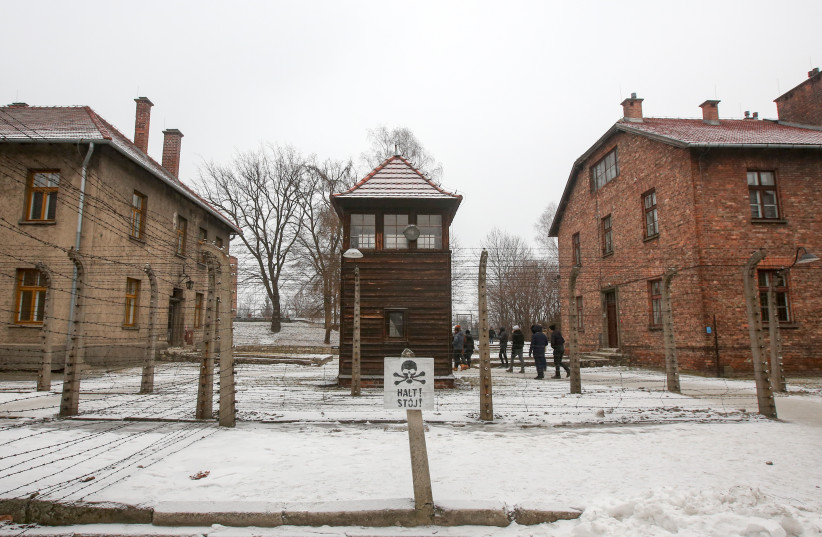 Auschwitz concentration camp in Poland in the snow (photo credit: MARC ISRAEL SELLEM/THE JERUSALEM POST)