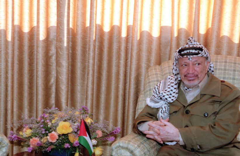 Yasser Arafat in 1968 at the then PLO head quarters. (photo credit: REUTERS)