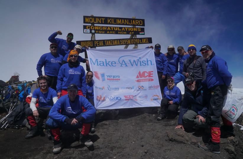 The team at the summit of Mount Kilimanjaro  (photo credit: YARIV DAGAN)