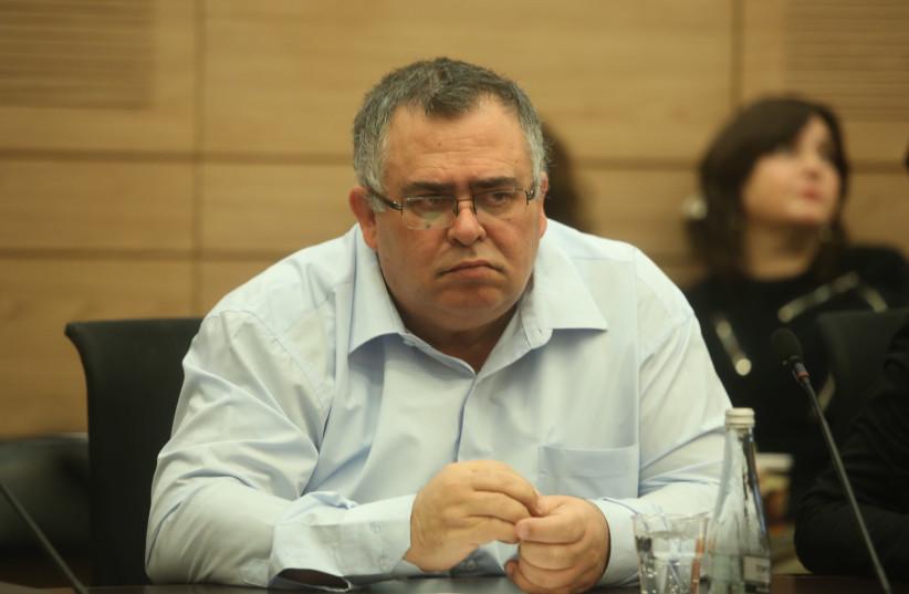 David Bitan in Knesset on February 5, 2018. (photo credit: MARC ISRAEL SELLEM)