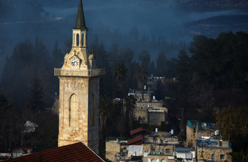 The Church of Saint John the Baptist in Jerusalem (photo credit: RONEN ZVULUN/ REURERS)