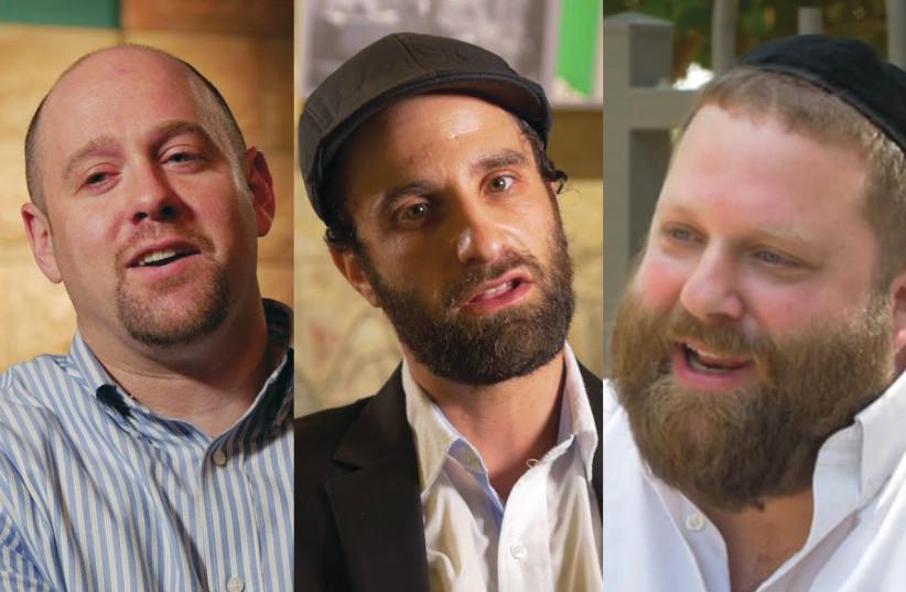 Three single Davids (from left): David Kilimnick, David Schwartz and David Katz (photo credit: CHANANYA WEISSMAN)