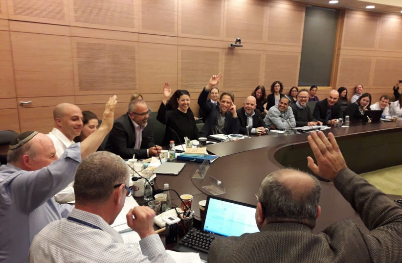 The Constitution, Law and Justice Committee approves a bill. (photo credit: KNESSET SPOKESPERSON'S OFFICE)