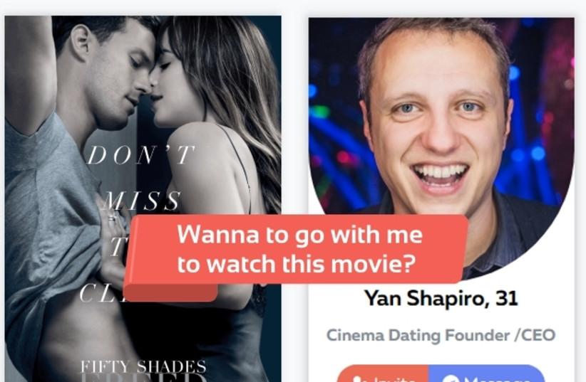New app Cinema Dating, developed by Ukrainian immigrant and entrepreneur Yan Shapiro (photo credit: Courtesy)