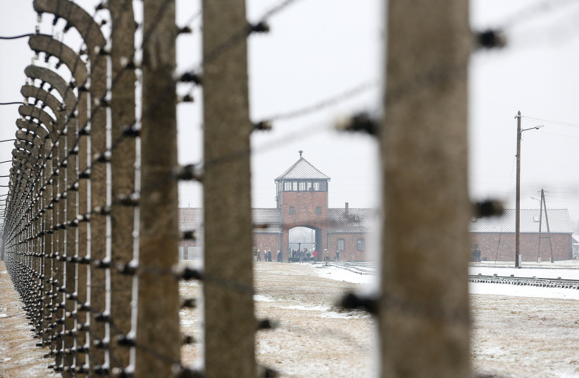 A view of the Auschwitz concentration camp (photo credit: MARC ISRAEL SELLEM/THE JERUSALEM POST)