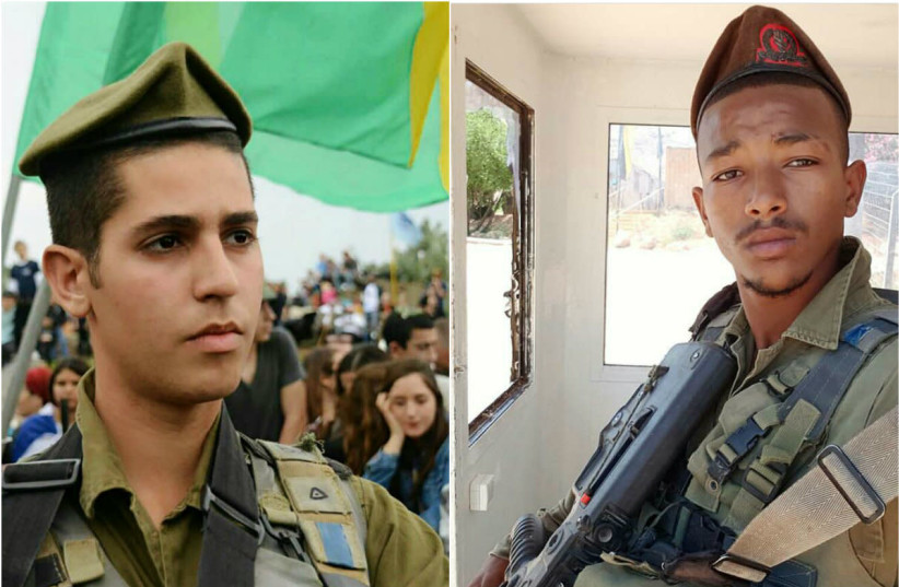 Bar Yakubian (R) and Eshto Tespo(L) (IDF spokesperson) (photo credit: IDF SPOKESPERSON'S OFFICE)