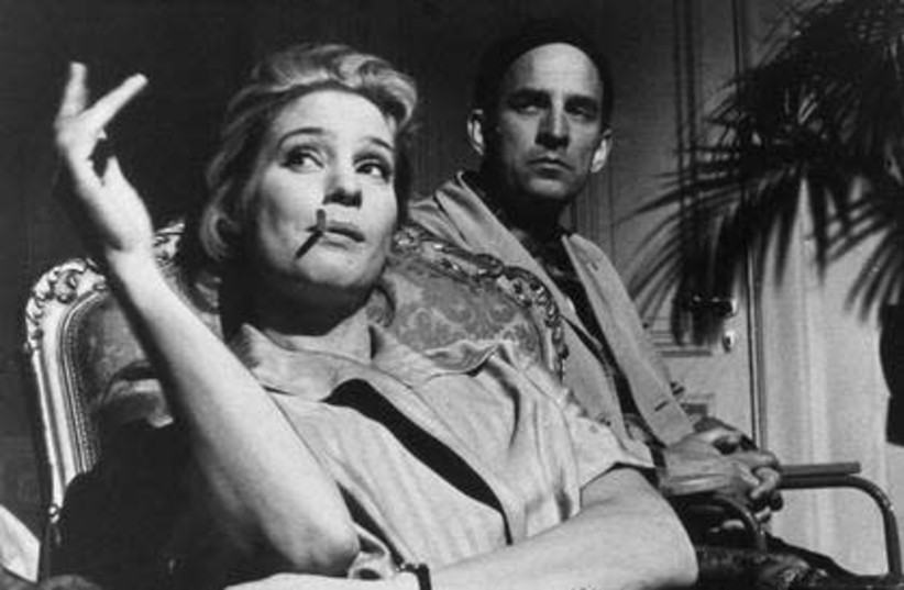 Ingmar Bergman (1918-2007), Swedish stage and film director, and Ingrid Thulin (1926-2004), actress. Photo: During the production of The Silence (Tystnaden), 1963. Svensk Filmindustri (SF) press photo, Photographer unknown. (photo credit: SVENSKA FILMINSTITUTET VIA WIKIMEDIA COMMONS)