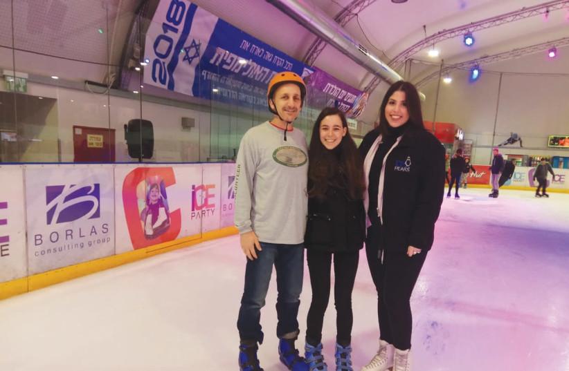 Ice skating at Ice Peaks skating rink in Holon (photo credit: TAMAR BEN-OZER)