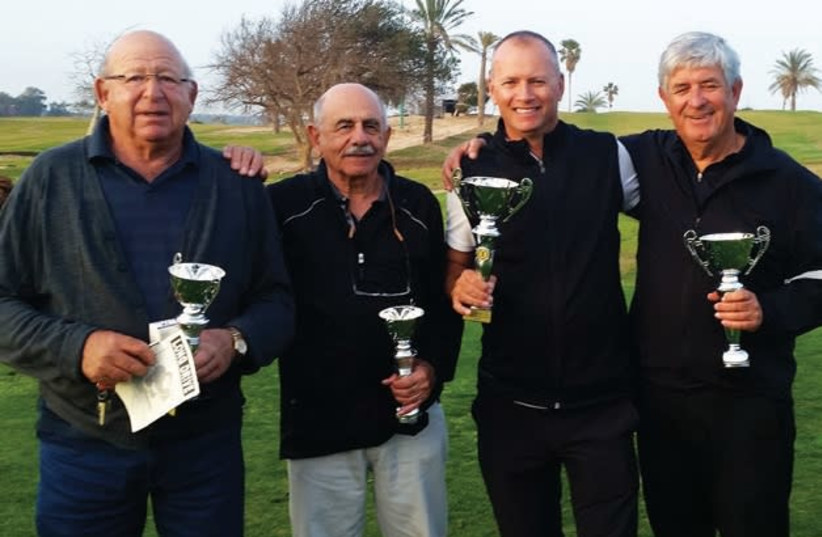 THE WINNING groups at the open-house tournament at Ga'ash (from left) Brian Galgut, Dave Haskell, Gary Vandermolen and Doron Koliner, (photo credit: Courtesy)