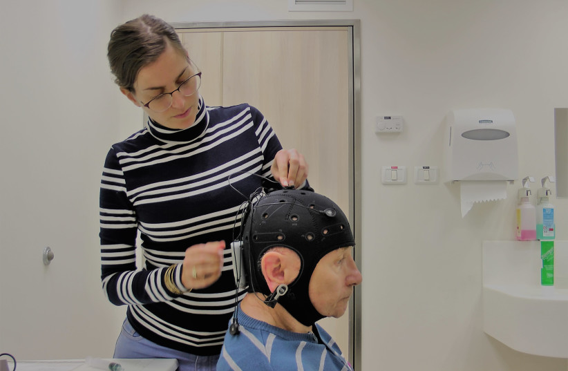 Brain stimulation used on a patient with Parkinsons (photo credit: Courtesy)