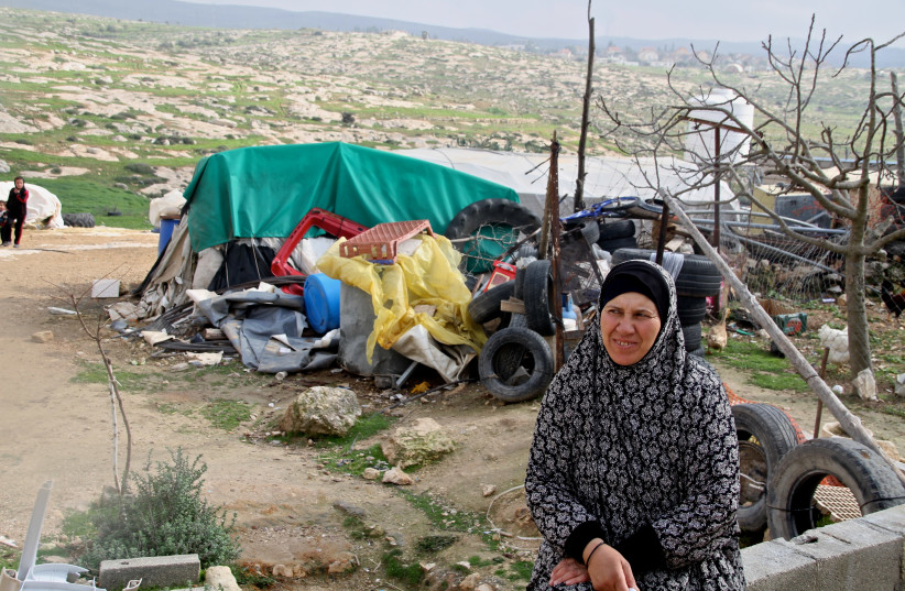 a woman from the West Bank village of Sussiya (photo credit: TOVAH LAZAROFF)