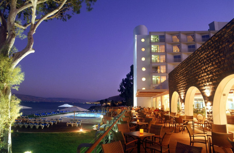 The Rimonim Galei Kinneret Hotel in Tiberias, on the shore of the Sea of Galilee. (photo credit: Courtesy)