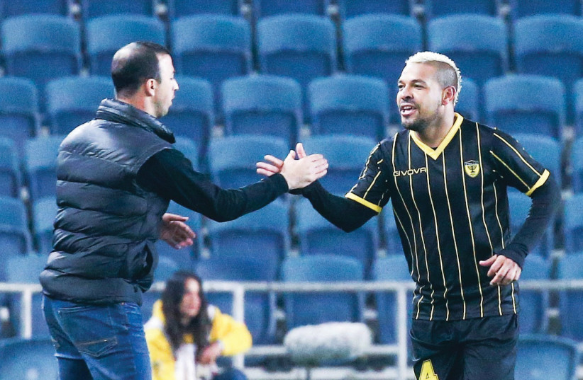 Beitar Jerusalem's Brazilian midfielder Claudemir (right) (Danny Maron photo credit) (photo credit: DANNY MARON)