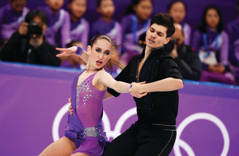 Israeli ice dancing duo Adel Tankova and Ronald Zilberberg (Reuters) (photo credit: REUTERS)