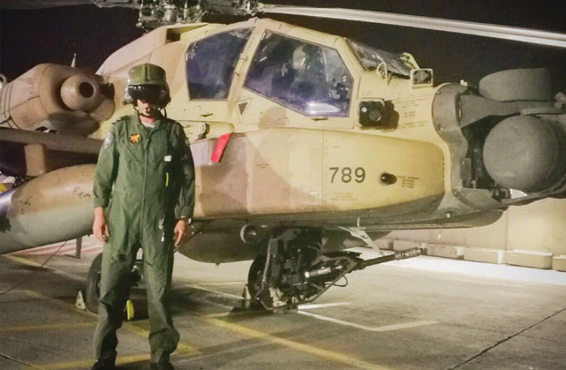 Lt.-Col. L., the pilot who downed the Iranian drone over Israel early on February 10, 2018 (photo credit: IDF)