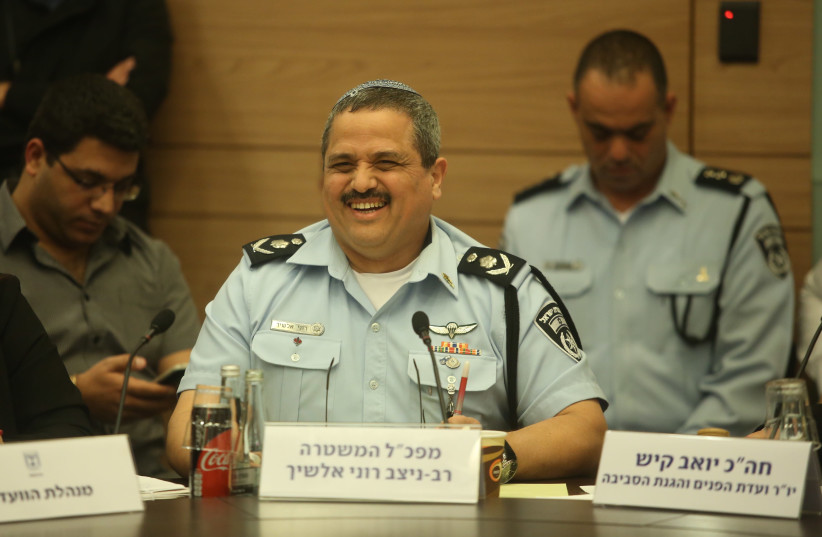 Police Commissioner Roni Alsheich speaks in Knesset (photo credit: MARC ISRAEL SELLEM/THE JERUSALEM POST)