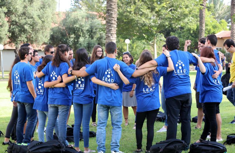Students participate in LEAD (photo credit: SIVAN FARAJ)