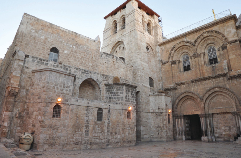 The Church of the Holy Sepulchre in the Old City (photo credit: Wikimedia Commons)