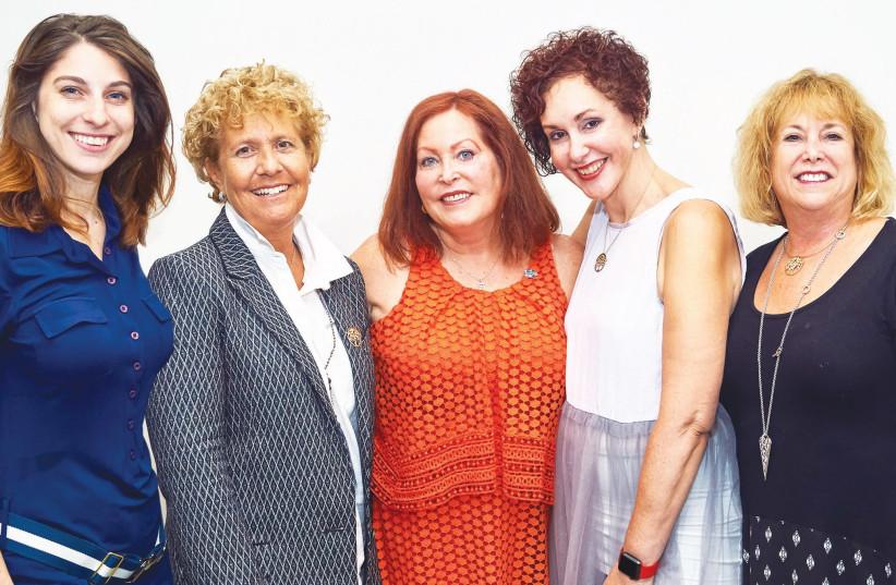 JNF-USA leaders in the Women's Campaign (left to right): Samantha van Adelsberg, Marci Robinson, Alyse Golden Berkley, Myra Chack Fleischer and Nina Paul. (photo credit: JNF-USA)
