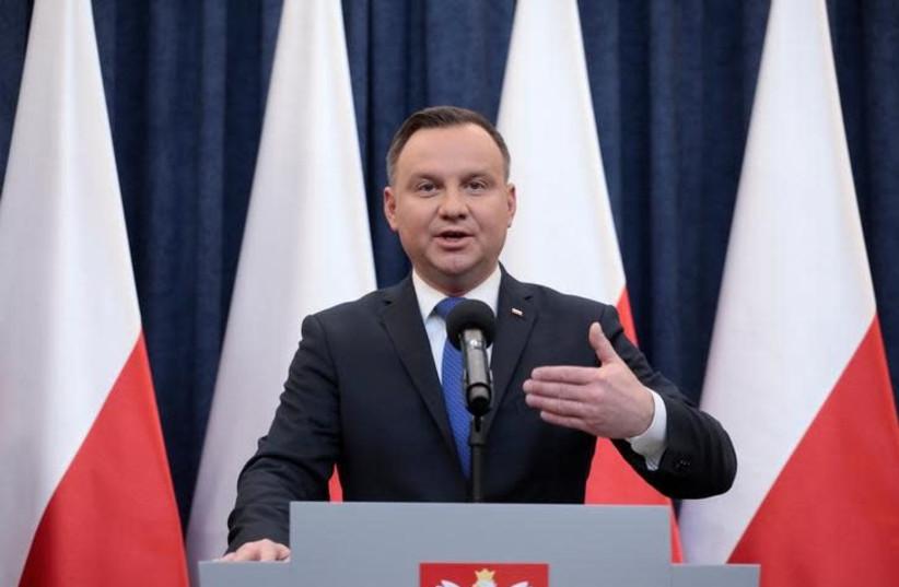 Polish President Andrzej Duda (photo credit: AGENCJA GAZETA/DAWID ZUCHOWICZ VIA REUTERS)