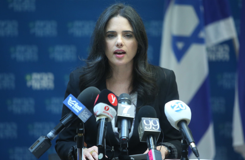 Justice Minister Ayelet Shaked (photo credit: MARC ISRAEL SELLEM/THE JERUSALEM POST)