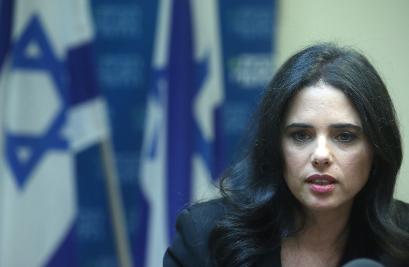 Ayelet Shaked (Marc Israel Sellem/The Jerusalem Post) (photo credit: MARC ISRAEL SELLEM/THE JERUSALEM POST)