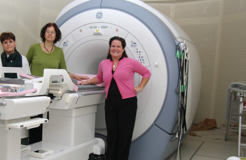 Dr. Miriam Sklar, head of the breast imaging center at Sheba Hospital, seen with her department's latest technology (photo credit: Courtesy)