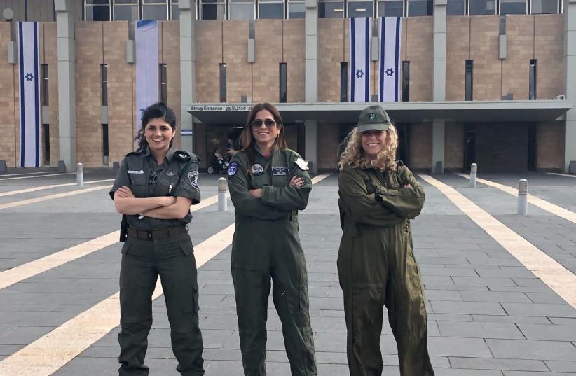 MKs (L-R) Sharren Haskel (Likud), Merav Ben-Ari (Kulanu) and Ayelet Nahmias-Verbin (Zionist Union)  (photo credit: CHAIM MESSIKA)