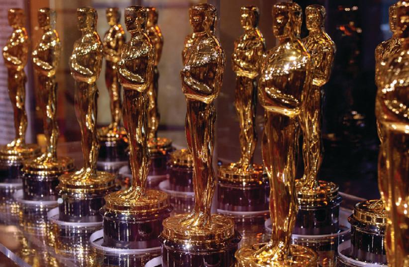 Oscar trophies (photo credit: TNS)