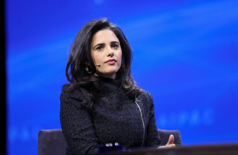 Ayelet Shaked at the AIPAC conference  (photo credit: COURTESY OF AIPAC)