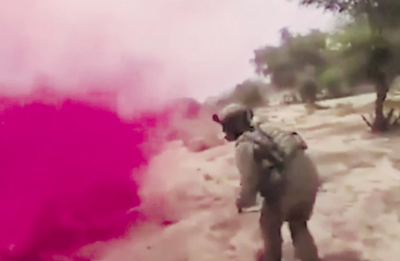 An ISIS propaganda video shows a deadly ambush of US soldiers in Niger (photo credit: screenshot)