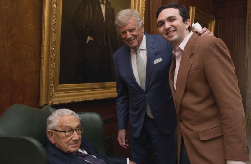 Dr. Henry Kissinger, Dr. Herb London and Nass (photo credit: ANDREA EDELMAN PHOTOGRAPHY)