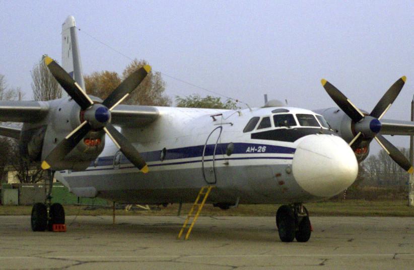 A Soviet AN-26 cargo plane (illustrative). (photo credit: GLEB GARANICH / REUTERS)