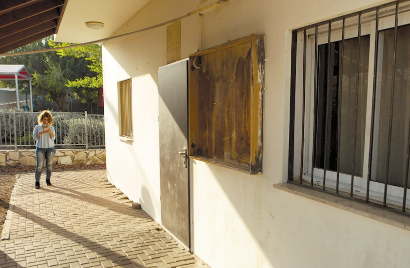 A VIEW of the front of the shuttered Khwaled clinic (photo credit: MATI MILSTEIN)