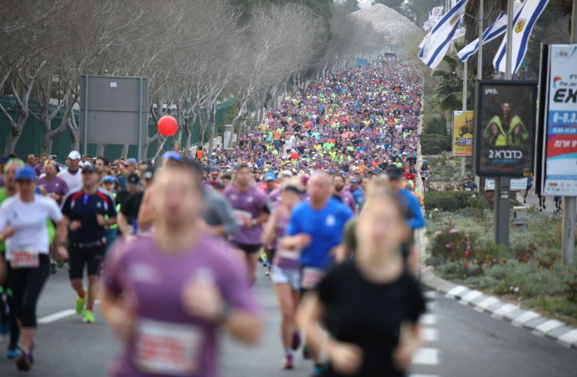 Jerusalem Marathon, March 2018 (photo credit: YITZHAK KELMAN/ TPS)