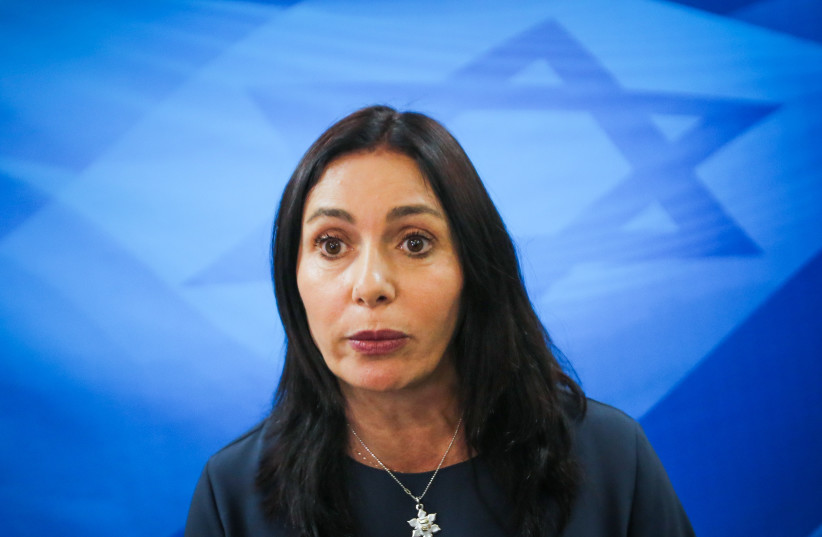 Culture Minister Miri Regev cabinet meeting March 11, 2018 (photo credit: MARC ISRAEL SELLEM/THE JERUSALEM POST)
