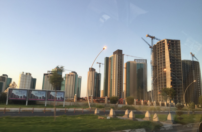 A road leading from Erbil international airport; the airports helped lead to international financial investment. (photo credit: SETH J. FRANTZMAN)