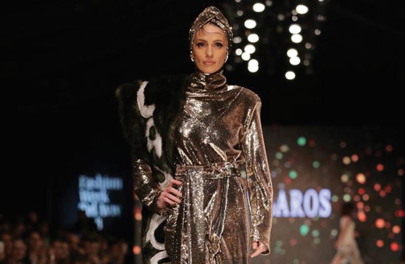A creation by up-and-coming designer Idan Laros at Tel Aviv Fashion Week (photo credit: AVI WALDMAN)