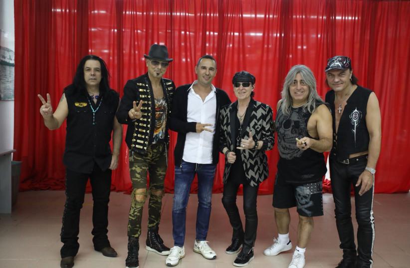 The Scorpions with Playtika CEO RObert Antokol (center) (photo credit: Courtesy)