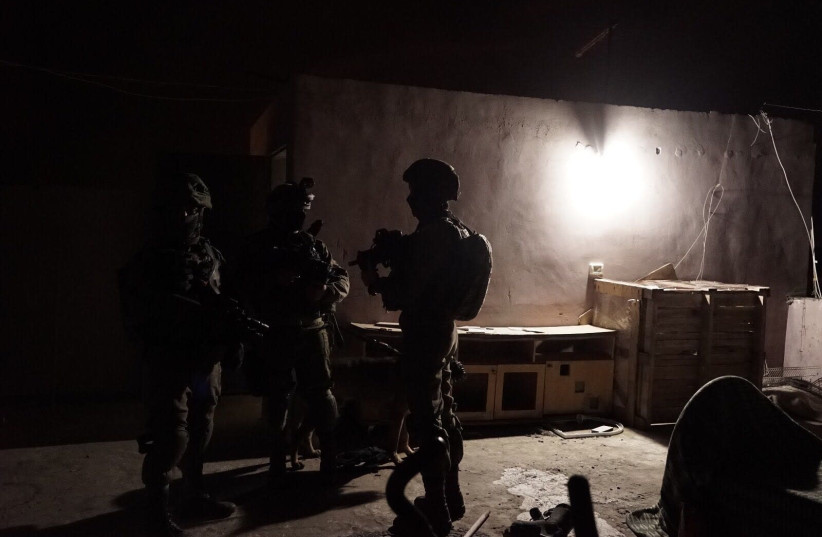 IDF forces during an overnight operation in the West Bank, March 18th, 2018. (photo credit: IDF SPOKESPERSON'S UNIT)