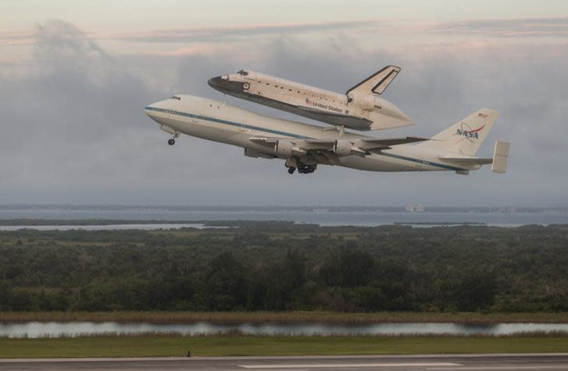 space shuttle endeavor taking off (photo credit: REUTERS/SCOTT ANDREWS/NASA/HANDOUT)