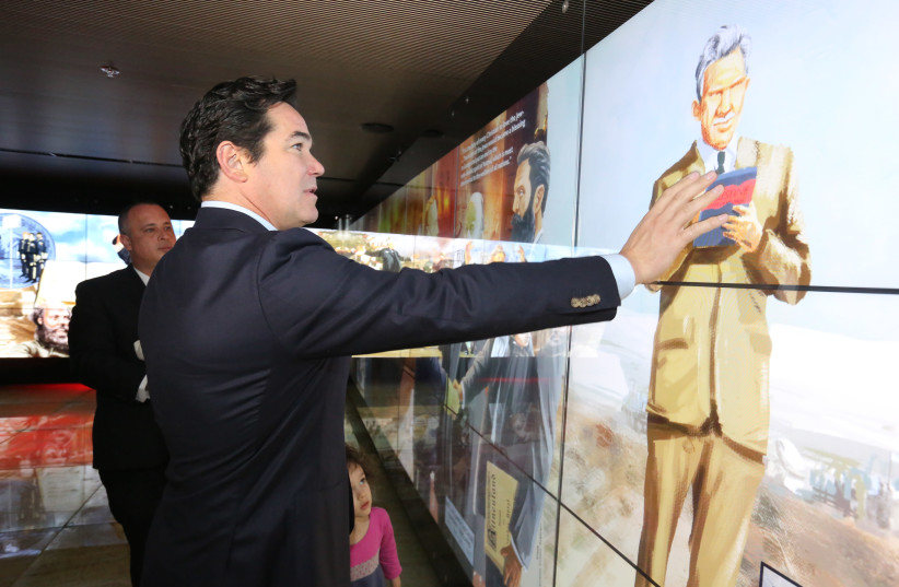 Actor Dean Cain visits the Friends of Zion Museum in Jerusalem (photo credit: COURTESY OF THE FRIENDS OF ZION MUSEUM)