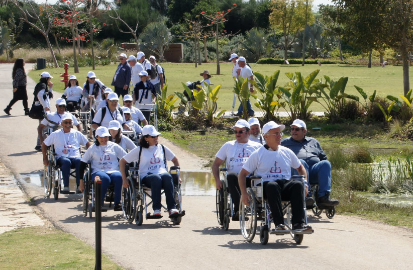 Course participants during a study tour in Ariel Sharon Park southeast of Tel Aviv, March 19, 2018 (photo credit: JUDY SIEGEL)