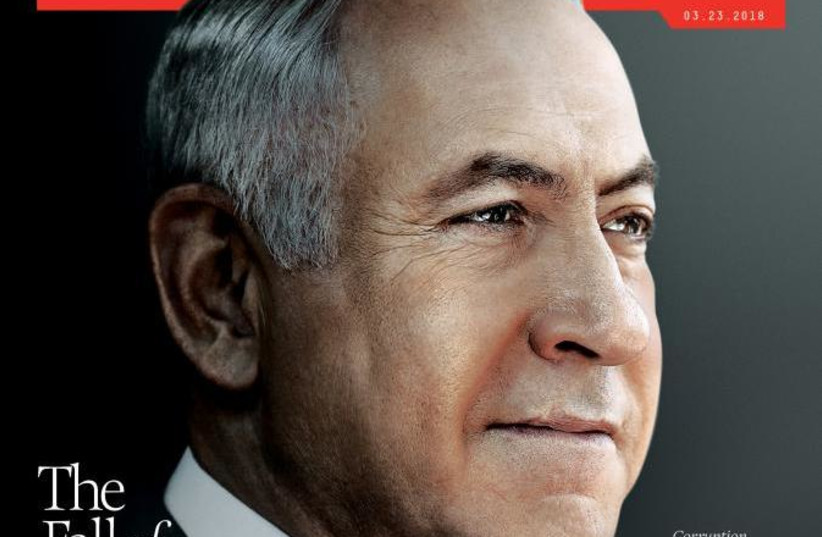 Screenshot of the March 23, 2018 Newsweek cover featuring Benjamin Netanyahu (photo credit: screenshot)