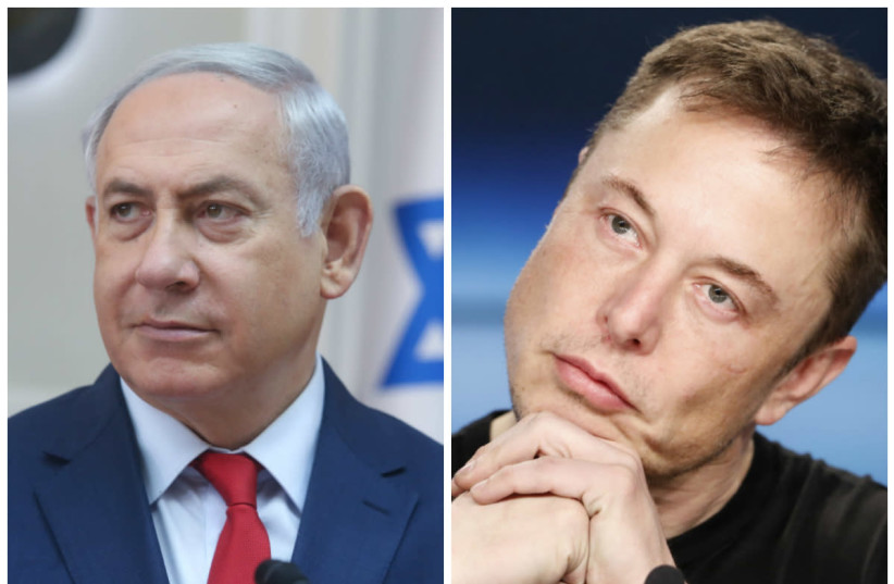 Benjamin Netanyahu and Elon Musk (photo credit: MARC SELLEM + REUTERS)