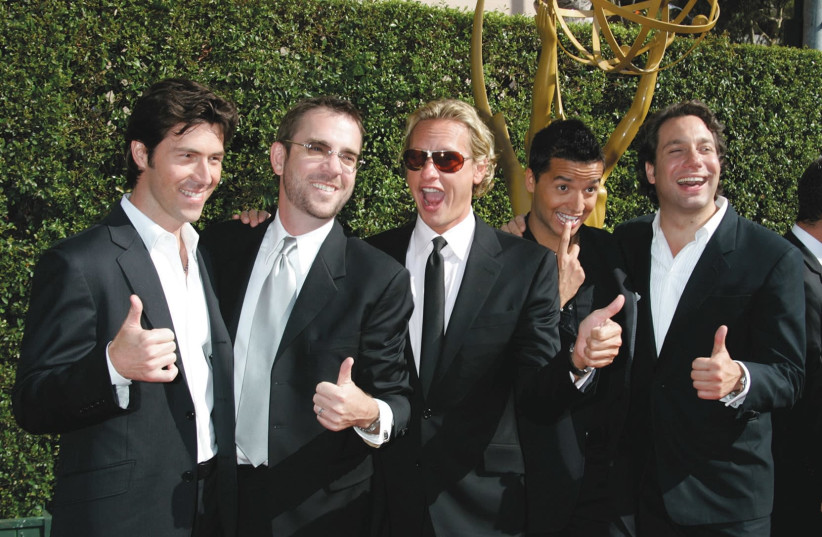 """The cast of the original """"Queer Eye for the Straight Guy"""" (photo credit: REUTERS)"""