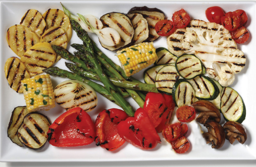 Grilled vegetables in a red-wine marinade (Illustrative) (photo credit: TNS)