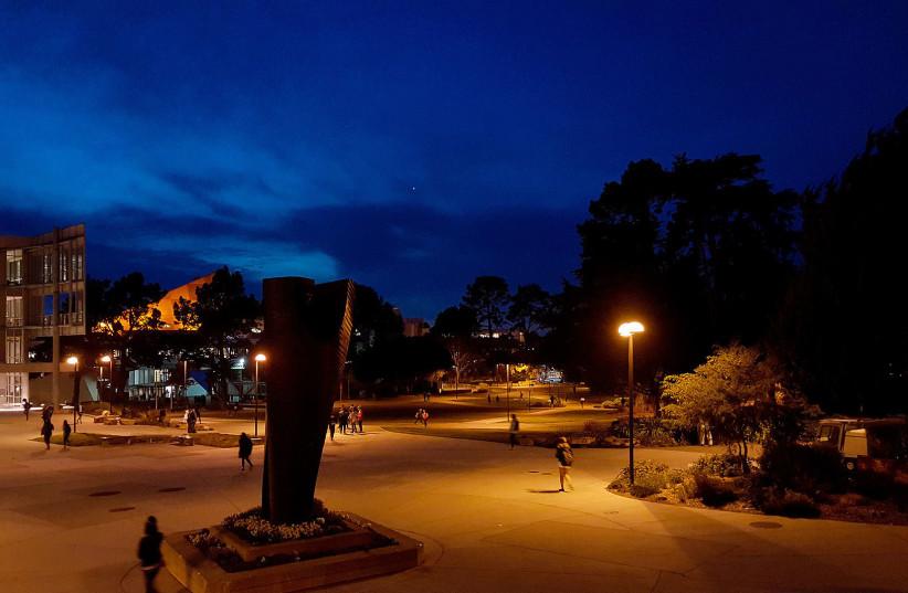 SFSU at night  (photo credit: DMARKMD5 / WIKIMEDIA COMMONS)