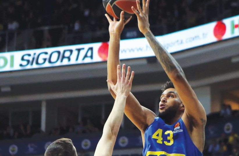 Maccabi Tel Aviv needs forward Jonah Bolden to be at his best tonight when it hosts Panathinaikos in Euroleague action at Yad Eliyahu Arena. (photo credit: GOKHAN KILINCER)