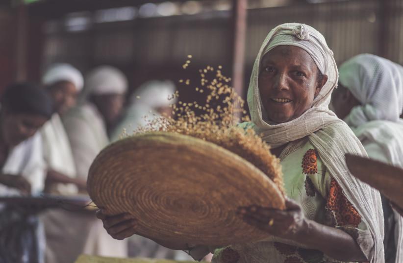 Ethiopian Jews prepare for Passover (photo credit: LIOR SPERANDEO)